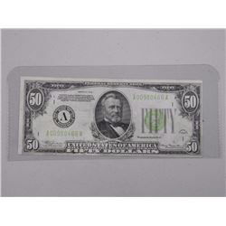 USA Federal Reserve Note Fifty Dollar - Series 1934