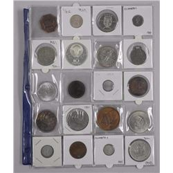 20x Estate Numismatic Coins, Tokens, Medals, Includes: 1949 Silver Dollar, 10 Roubles, Great Britain