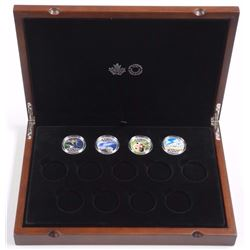 4x Canada's 150th Celebration Coins - .9999 Fine Silver $!0.00 Coins with RCM Case. includes: Loon,