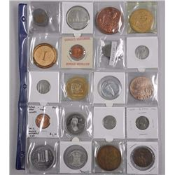 20x Estate - Numismatic Coins, Tokens etc Includes: 1967 Silver 50 Cent, 1939 Canada Silver Dollar,