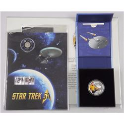 Lot (2) Star Trek - 1st Issue Coins, 2016 .9999 Fine Silver, Lenticular Coin and Folio with Giclee