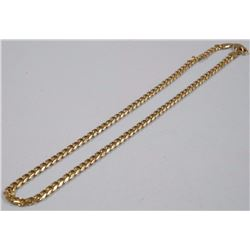 """22"""" Gold Plated - Flat Link Chain"""