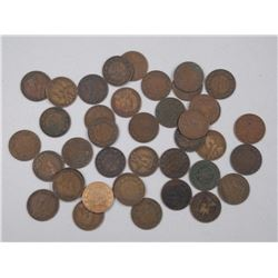 40x Large 1 Cent Coins. Mostly King George (ATTN: 40 Times the bid price)