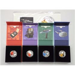 4x RCM - 2016 .9999 Fine Silver $10.00 'Star Trek' Coin Issues - #1,2,3,4 with Giclee (ATTN: 4 Times