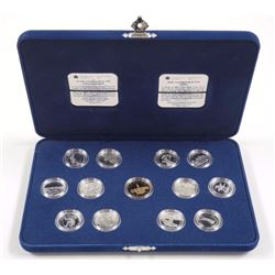 1992 Sterling Silver 25c Proof Coin Set - 125th Anniversary of Canada Set.
