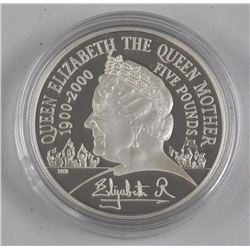 Queen Mother Silver proof Crown, 925 Silver with LE/C.O.A.