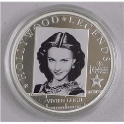 'Hollywood' Legends 'Vivien Leigh' 925 Sterling Silver Coin with C.O.A. LE/2500 (AR)