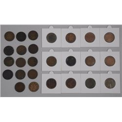 25x Canada Large 1 Cent Coins - Mix Monarchs (ATTN: 25 Times the bid price)