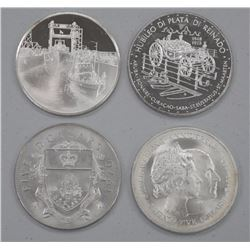4x 925 Sterling Silver Collector Bullion Rounds (ATTN: 4 Times the bid price)
