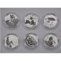 6x RCM .9999 Fine Silver $20.00 Collector Bullion Coins with RCM Collector Case (ATTN: 6 Times the b