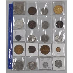 20x Estate Numismatics, Coins, Silver Canada Coins, USA, World, Tokens, Medals etc (ATTN: 20 Times t