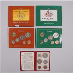 3x Royal Australian Mint UN Coin Collections: 1985, 1986 and undated wildlife coins. (OXR) (ATTN: 3