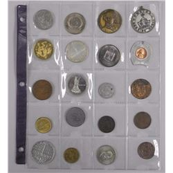20x Estate Coins. Tokens, Medals, Coins with Canada Silver Dollars (ATTN: 20 Times the bid price)