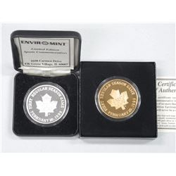 2x TML First Regular Season 999 Fine Silver and 999 Gold Plated Coins. LE with C.O.A (ATTN: 2 Times