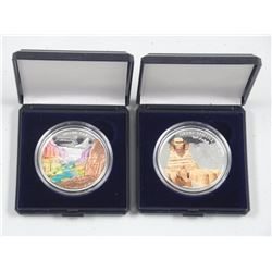 (2) 925 Silver Coins - Grand Canyon and Great Sphinx of Giza. (2 Times the Bid Price).