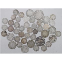 44x King George Silver 5 cent, 10 Cent, 25 Cent and 50 Cent Coins. Mixed. (ATN: 44 Times the bid pri