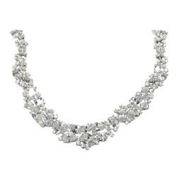 Ladies 925 Silver Custom Fancy Necklace Set with over 250cts Swarovski Elements, Fancy Cuts all in f