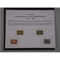 50th and 60th Anniversaries of Confederation, Plus Historical Stamp Issues 1917/1927 - (9) Stamps