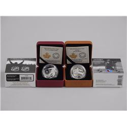 2x RCM Issue - .9999 Fine Silver TML Logo Coin and Johnny Bower Coin. LE/C.O.A. (ATTN: 2 Times the b