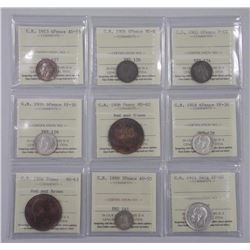 9x Great Britain Coins - Mix of Years 'ICCS' Certs (MIR) (ATTN: 9 Times the bid price)