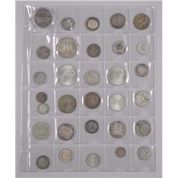 31x Estate Silver Coins - Mix of Countries and Years. Historical Coins included (ATN: 31 Times the b
