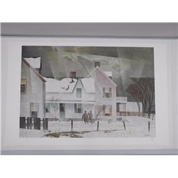 """A.J. Casson (1898-1992) Litho 'Snowflurries' 25x40"""" Unframed - Hand Signed with Original Signature -"""