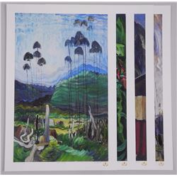 Emily Carr (1871-1945) 'Into the Light' Art Folio with 4 Match Number Images - 18x20 unframed with C