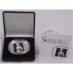 Hollywood Legends 'Ginger Rogers' 925 Sterling Silver Coin with C.O.A. LE 2500