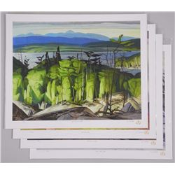 4x A.J. Casson (1898-1992) 'Through My Eyes' Collection. 17x22 unframed (ATTN: 4 Times the bid price