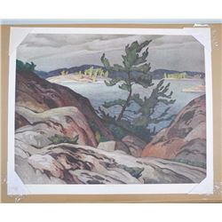 A.J. Casson (1898-1992) Rare Litho 'Sturgeon Bay' 26x32 Unframed with Original Hand Signature (Rare