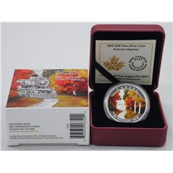 RCM .9999 Fine Silver $20.00 'Autumn Express' (SRR) Coin. LE with C.O.A.