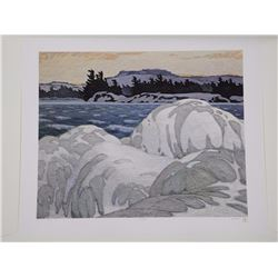 "A.J. Casson (1898-1992) 'Intelliquad' Process - 'Ice Hummocks' 26x31"" Unframed in Folio - LE/10 Worl"