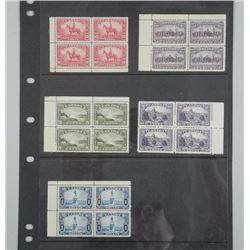 Canada Plate Block Stamps Uncut - 5 Blocks Proof Mint Stamp Proof Mint Stamp