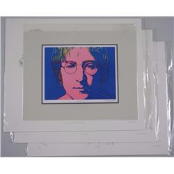4x 'John Lennon' Litho's Includes (3) LE 9/12 Images 14x17 unframed and J.L. Portrait by Andy Warhol