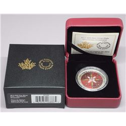 RCM - .9999 Fine Silver Ultra High Relief Coloured Coin - Christmas Ornament LE 6000, C.O.A. (SOR)