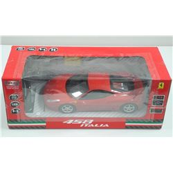 "Ferrari - 458 Italia Radio Car 1:14 LED - TRY BAND, Battery etc 18.5"" Car. BOX: 19X8X7"""