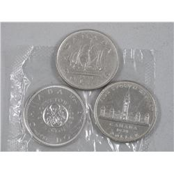 3x CAD Commemorative Silver Dollars 1939, 1949, 1964 (Proof Like) (ATTN: 3 Times the bid price)