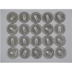 20x 1977 Silver Dollars - All Proof - Tube (ATTN: 20 Times the bid price)