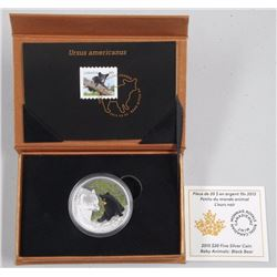 2015 - Baby Animals - RCM Issue .9999 Fine Silver Black Bear. LE / C.O.A.