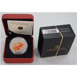 2007 - Silver Maple Leaf Coin - 'Sugar Maple In Orange' Sold Out High Tech. LE with COA