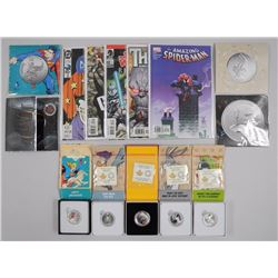 9x RCM .9999 Fine Silver Warner Bros, DC Comics, Star Trek, Batman, Looney Tunes, Coins with Collect