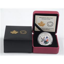 2014 - $10.00 .9999 Fine Silver Coin '(IE) 'Harlequin Duck' LE with C.O.A.