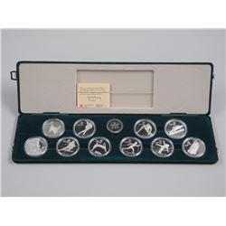 1988 Calgary 10pc Olympic Coin Set - Solid Sterling Silver