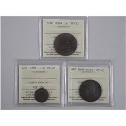 3x World Coins - France 1886A, ARG 1888, Austria 1891 (soe) (ATTN: 3 Times the bid price)