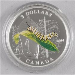 .9999 Fine Silver $3.00 Coins 'Caterpillar and Chrysalis' (IR) -High Tech- LE with C.O.A.