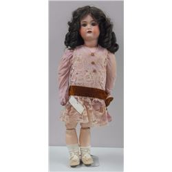 "Germany - Large Brunette Doll with Charleston Dress, Comp Body, 24"" 'Sleeping Beauty' Estate (OXR)"