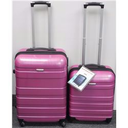 McBrine - 2pc Luggage Set Pullman Bags with Wheels. 22x24""