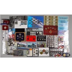 50x Mixed Estate - Coins and Collector Sets, .9999 Fine Silver, Mint Issues, Notes, Elvis, World Coi