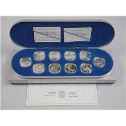 RCM - Complete 10pc Aviation 925 Sterling Silver $20.00 Coins. Proof with 23kt Gold overlay. All Ori