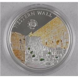 'World of Wonders' 'Western Wall' 925 Silver Coin, 2012 - $5.00 Proof (SRR) LE/2500